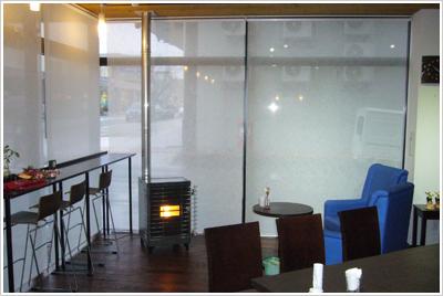 [写真]DBcafe様 ペレットストーブ設置イメージ